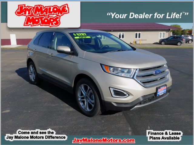 new 2018 ford edge titanium awd titanium 4dr crossover in hutchinson f1237 jay malone motors. Black Bedroom Furniture Sets. Home Design Ideas